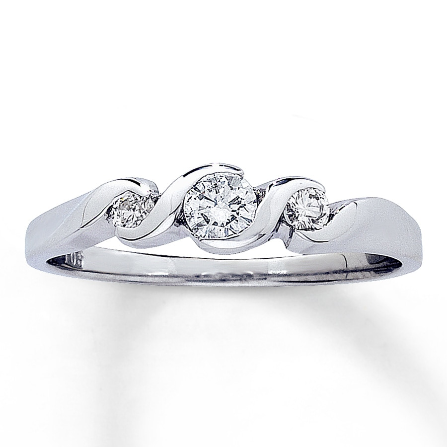 jared promise ring 1 4 ct tw cut 14k white