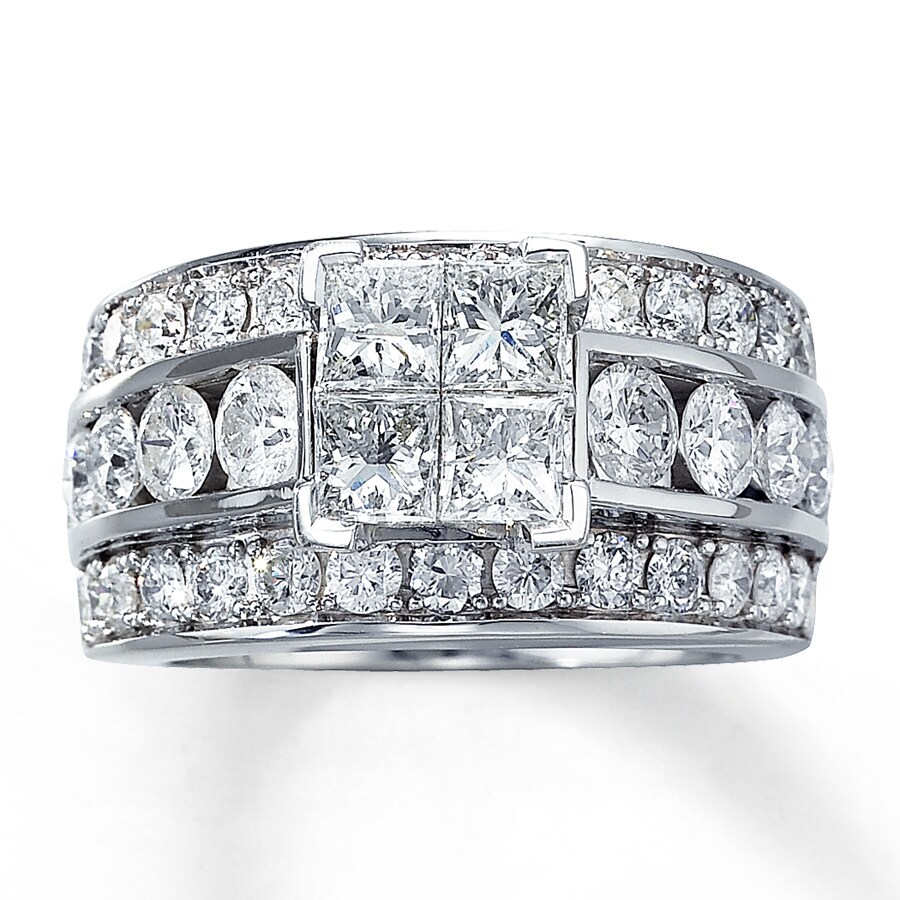 Jared Diamond Engagement Ring 312 ct tw Diamonds 14K White Gold