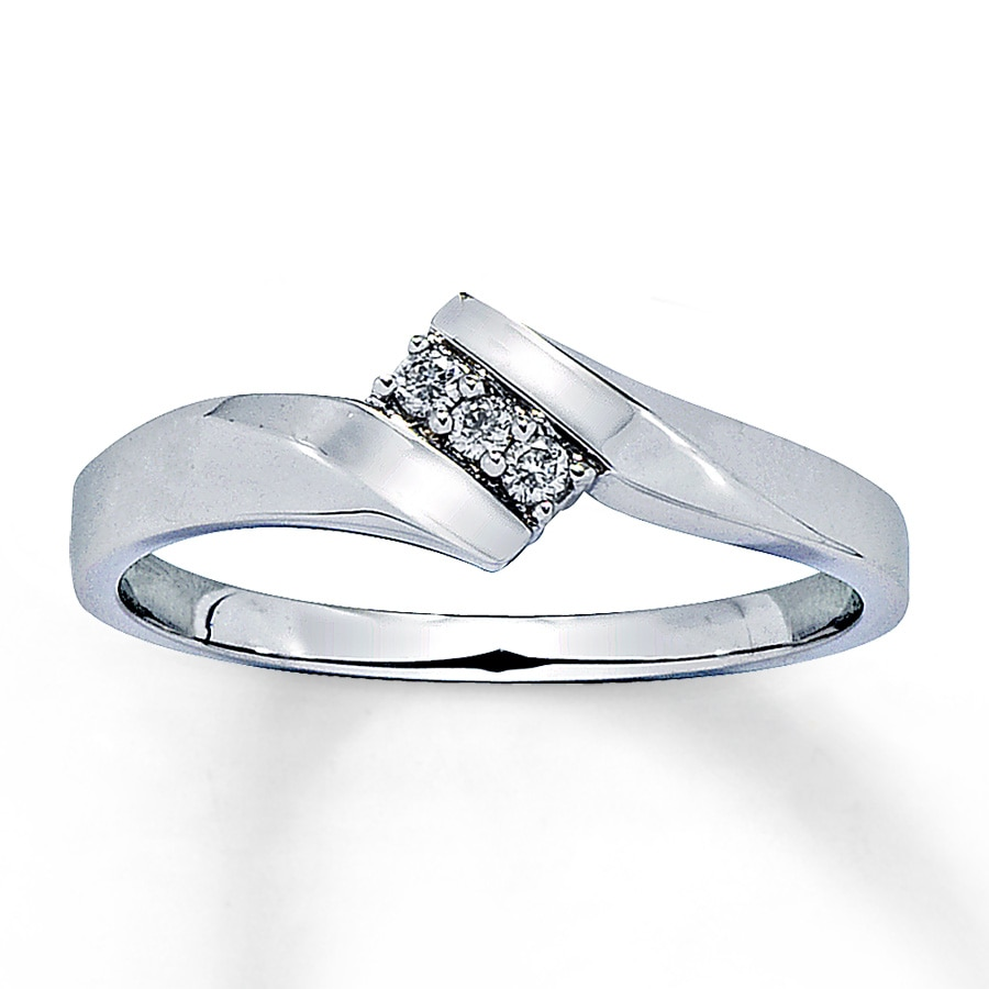 Jared Diamond Promise Ring 1 20 ct tw Round cut 10K White Gold