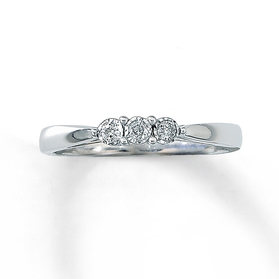 Jared Diamond Promise Ring 1 15 ct tw Round cut 10K White Gold