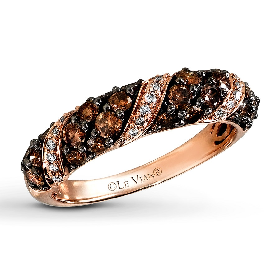 Jared Le Vian Ring 1 cttw Chocolate Diamonds 14K Strawberry Gold