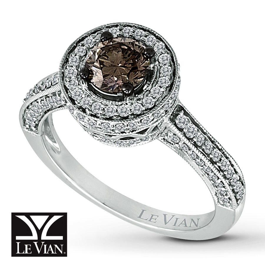 Jared Le Vian Ring 1 cttw Chocolate Diamonds 14K Vanilla Gold