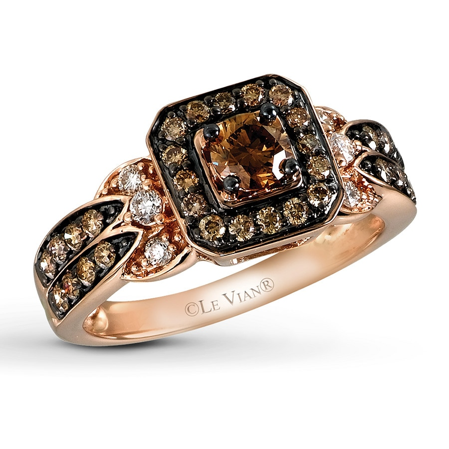 Jared  Le Vian Chocolate Diamond 3/4 ct tw Ring 14K Strawberry Gold