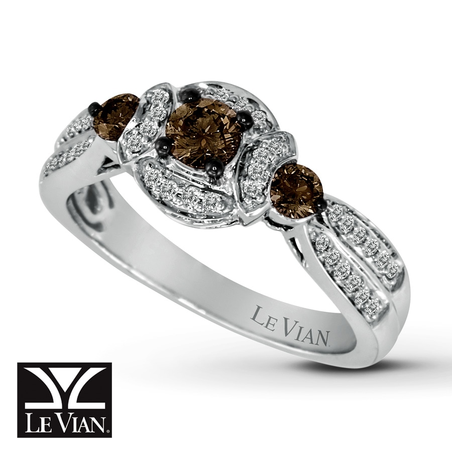 jared levian chocolate diamonds 5 8 ct tw ring 14k