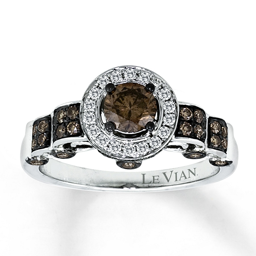 Jared Le Vian Chocolate Diamonds 115 ct tw Ring 14K Vanilla Gold