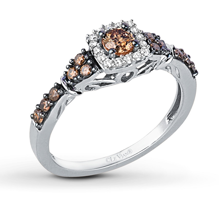 interesting engagement chocolate wedding diamond full bands hd view incredible inside gold diamonds attachment rose rings gallery of