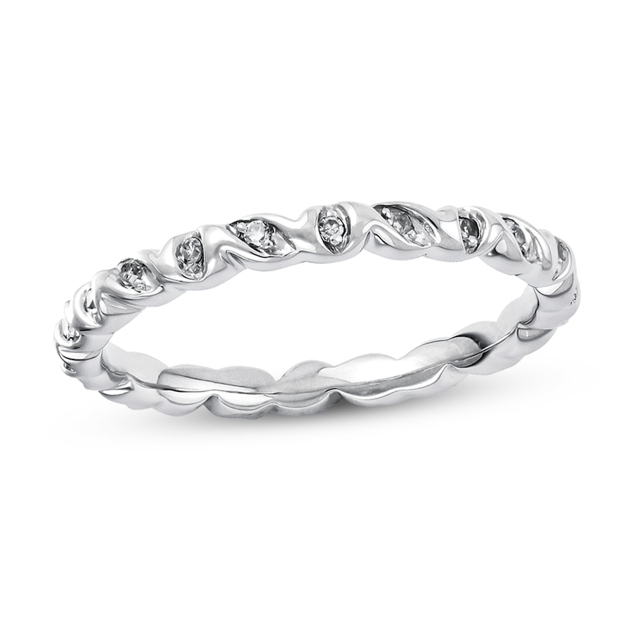 Jared Stackable Ring 1 10 ct tw Diamonds Sterling Silver