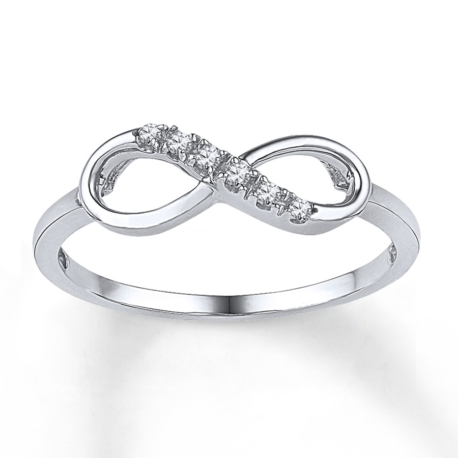 Jared Diamond Infinity Ring 1 20 Ct Tw Round Cut 10k