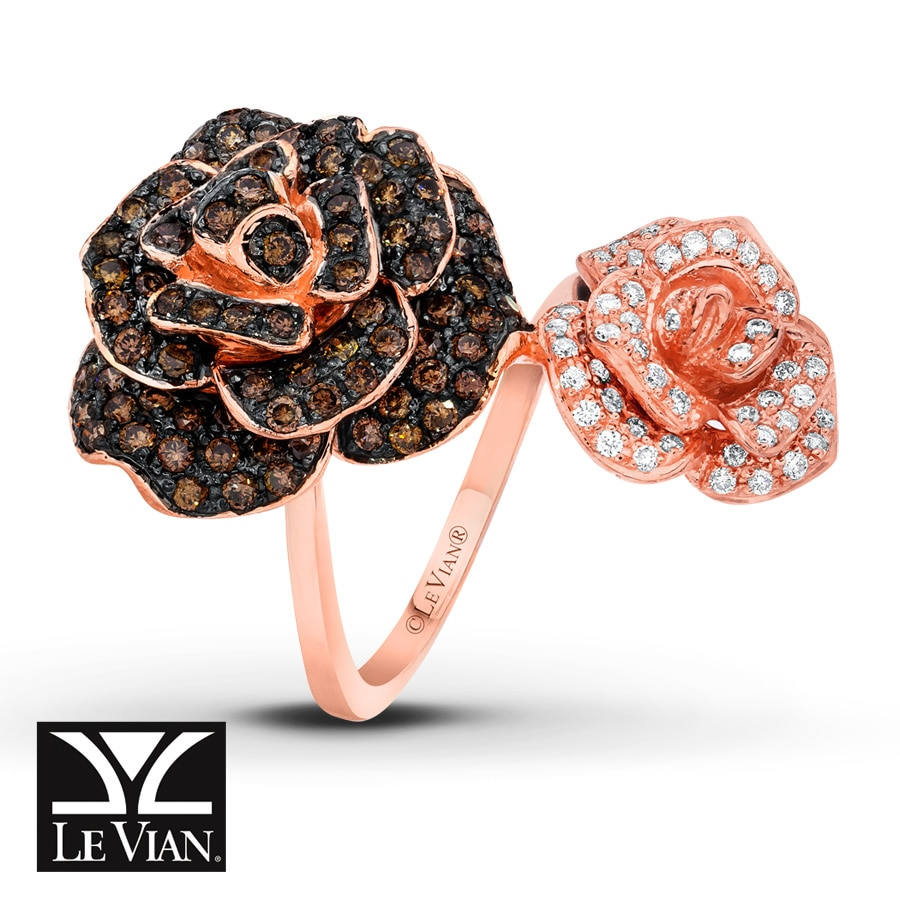 Jared LeVian Ring 134 carats tw Diamonds 14K Strawberry Gold