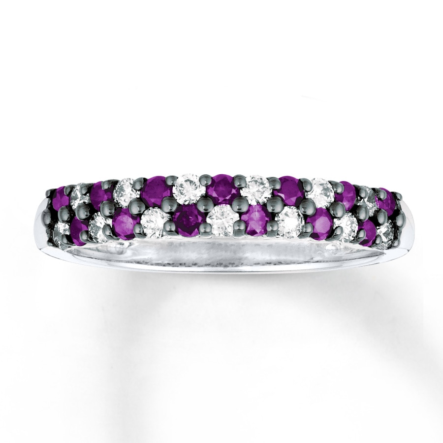 for ring engagement bookends rings set shop purple with silvet square blaze amethyst diamond