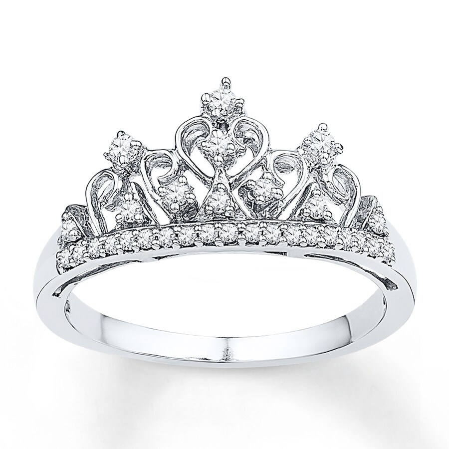 Jared Crown Ring 1 5 Ct Tw Diamonds Sterling Silver