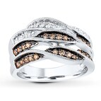 Shades of Wonder Ring 1/2 ct tw Round-cut 10K White Gold