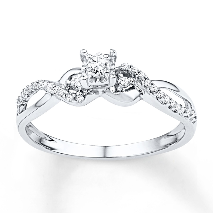 Diamond Fashion Rings White Gold