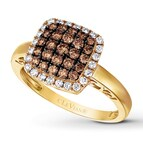 LeVian Chocolate Diamonds 5/8 ct tw Ring 14K Honey Gold
