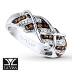LeVian Chocolate Diamonds 1/2 ct tw Ring 14K Vanilla Gold