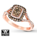LeVian Chocolate Diamonds 5/8 ct tw Ring 14K Strawberry Gold