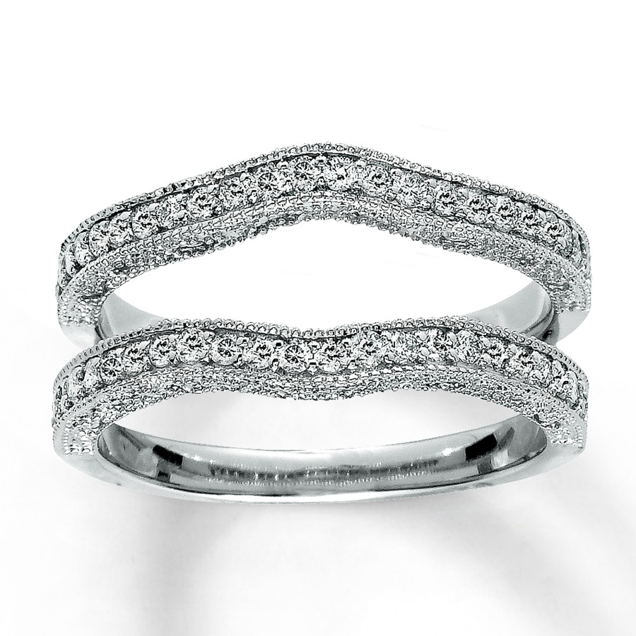 band in and one diamond curved enhancer img two rings wedding products solitaire