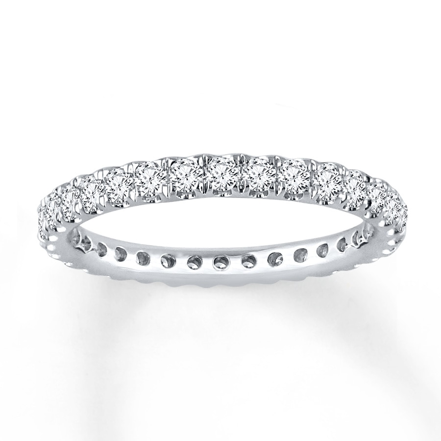 mens ct bands band eternity white gold ring diamond mm carat