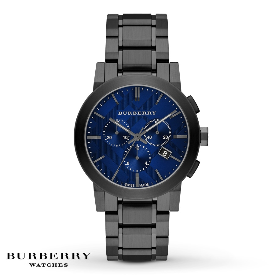 Jared burberry men 39 s watch chronograph bu9365 for Burberry watches
