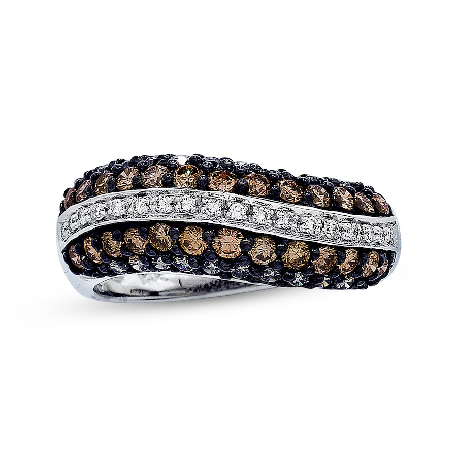 Jared  LeVian Chocolate Diamonds 1 1/8 ct tw Ring 14K Vanilla Gold