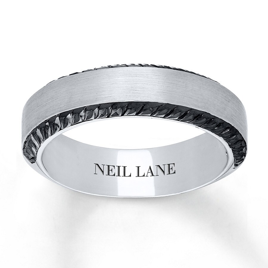 Jared neil lane men39s ring 14k white gold 65mm for Jared mens wedding rings