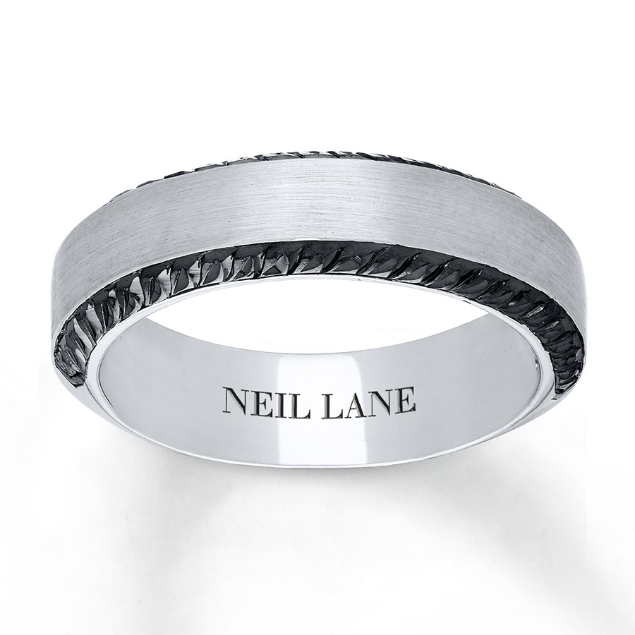 jared - neil lane men's ring 14k white gold 6.5mm