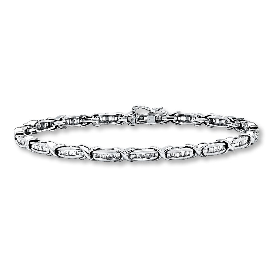 Jared Diamond Bracelet 1 ct tw Baguettecut 10K White Gold