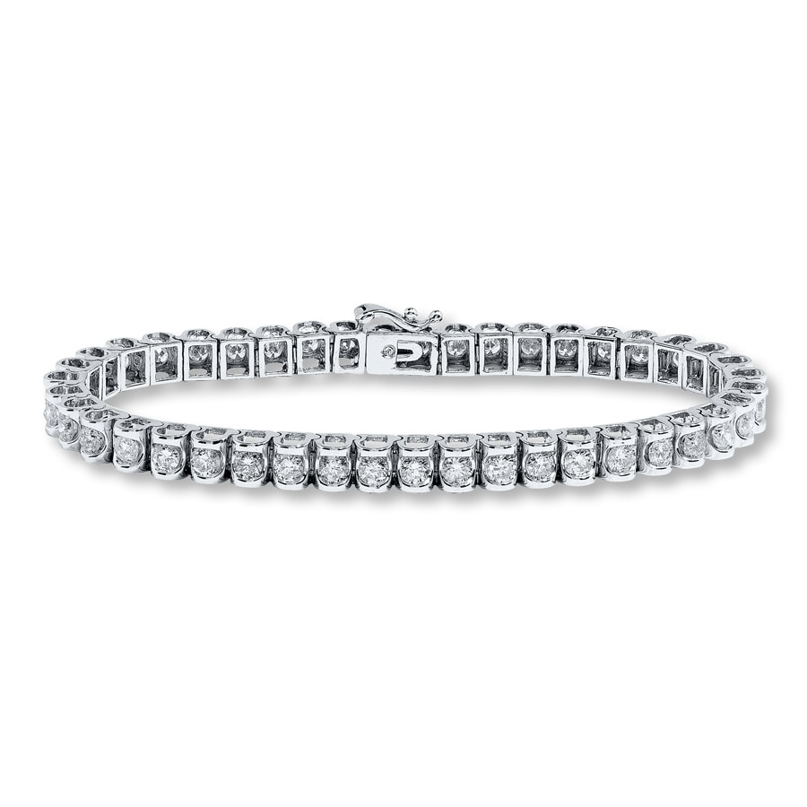 Jared Diamond Bracelet 5 ct tw Roundcut 14K White Gold