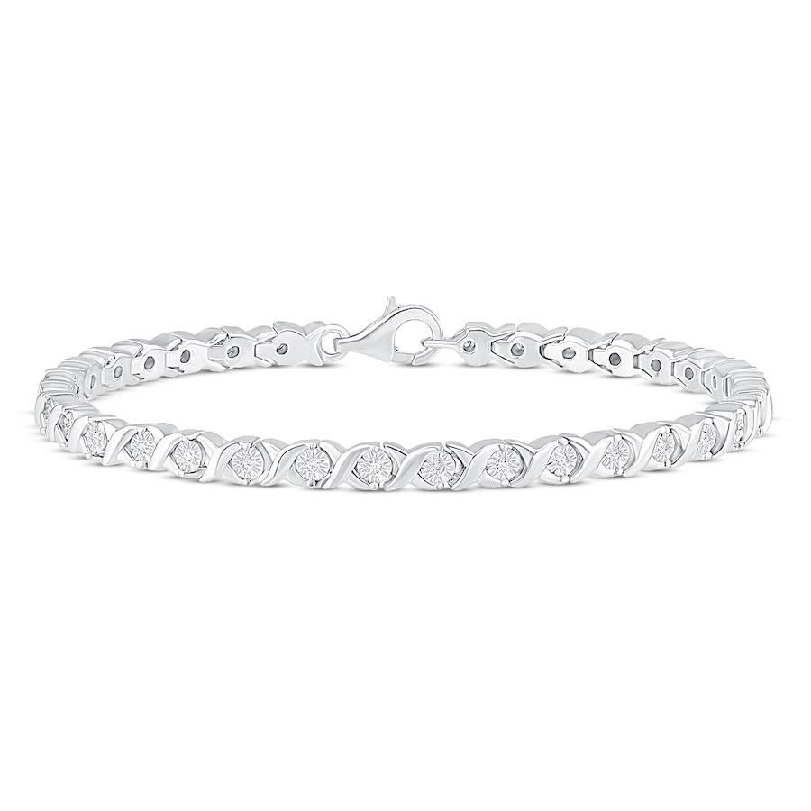 Jared Diamond Bracelet 13 ct tw Roundcut Sterling Silver