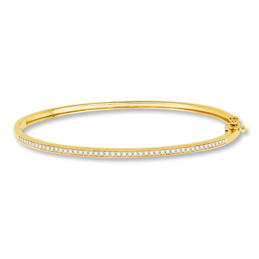 karat today overstock polished watches shipping product bangle textured gold bracelets jewelry bangles free