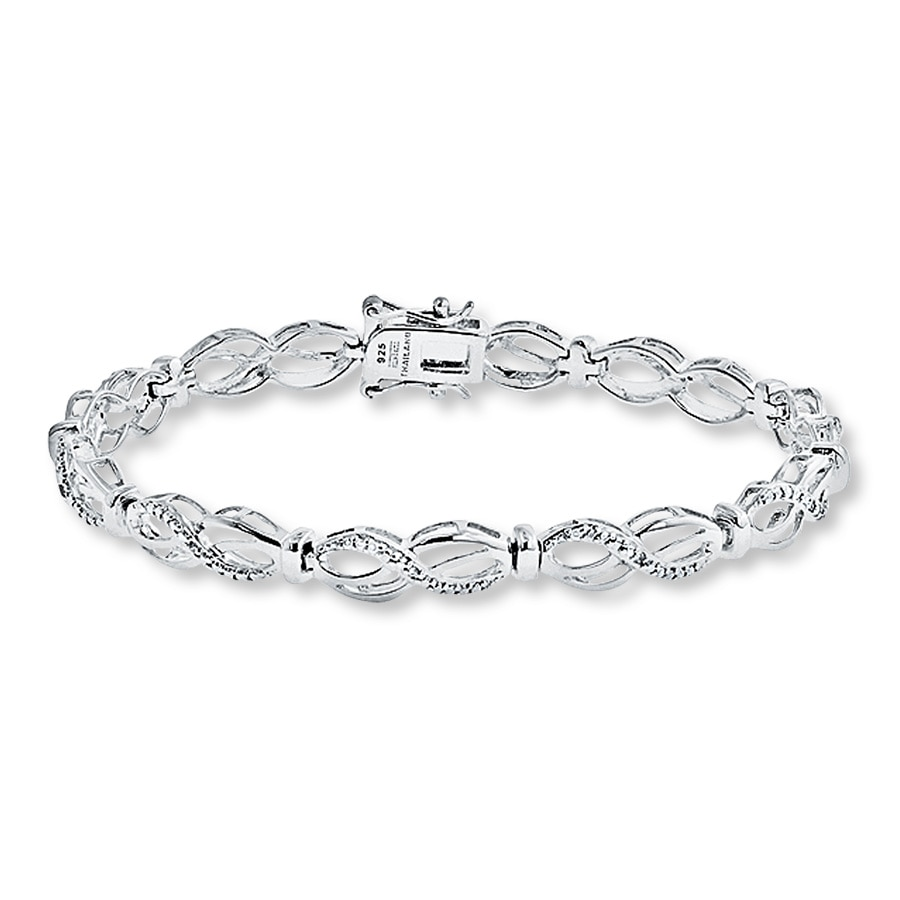 Diamond Bracelet 1 20 Ct Tw Round Cut Sterling Silver