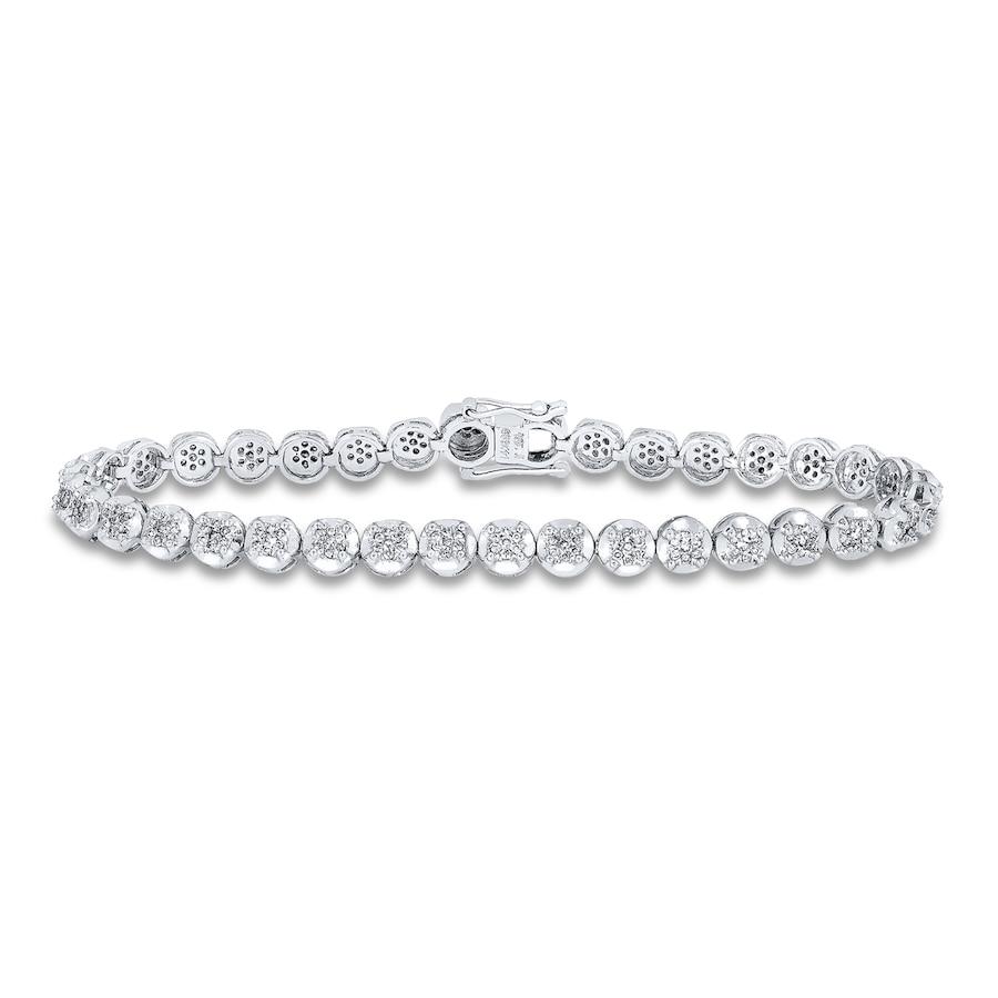 Diamond Tennis Bracelet 1 2 Ct Tw Round Cut 10k White Gold