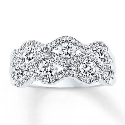 Diamond Ring 1-1/4 ct tw Round-cut 14K White Gold