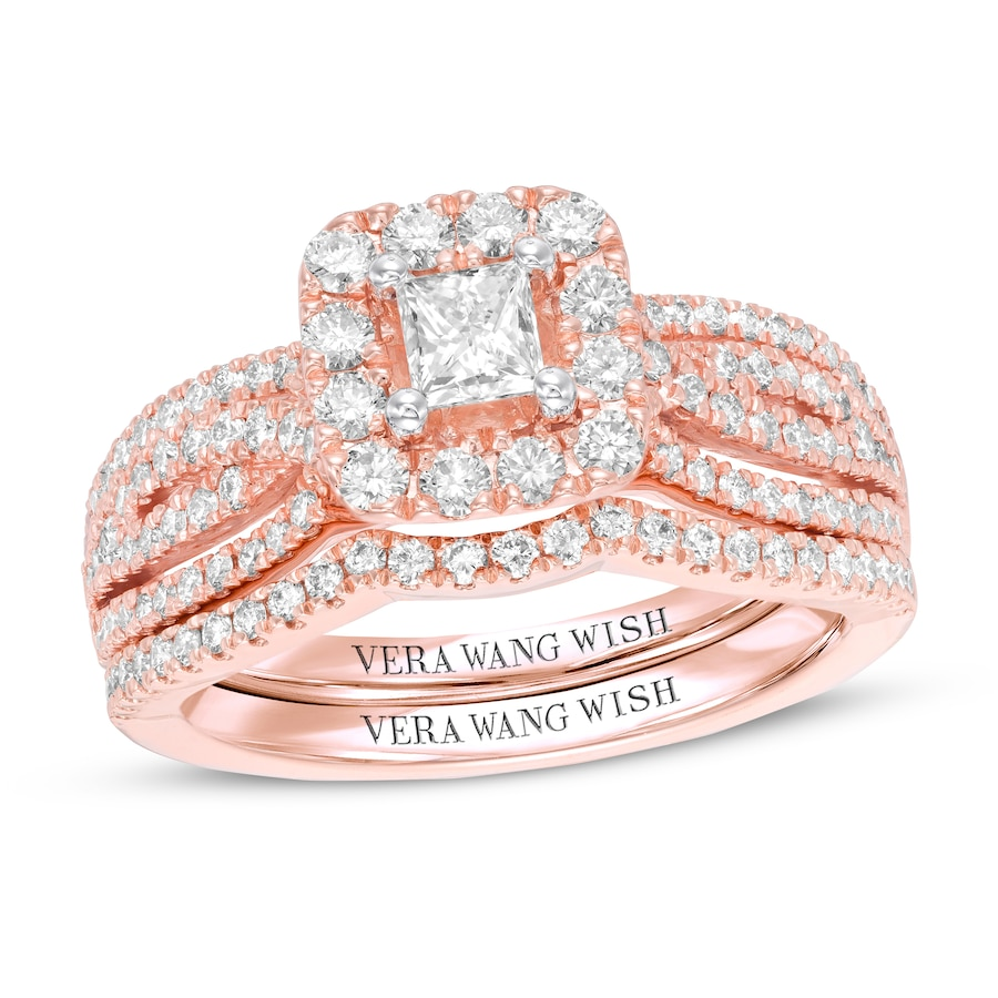 Vera Wang LOVE Diamond Bridal Set 1 ct tw 14K Rose Gold - 120260904 ...