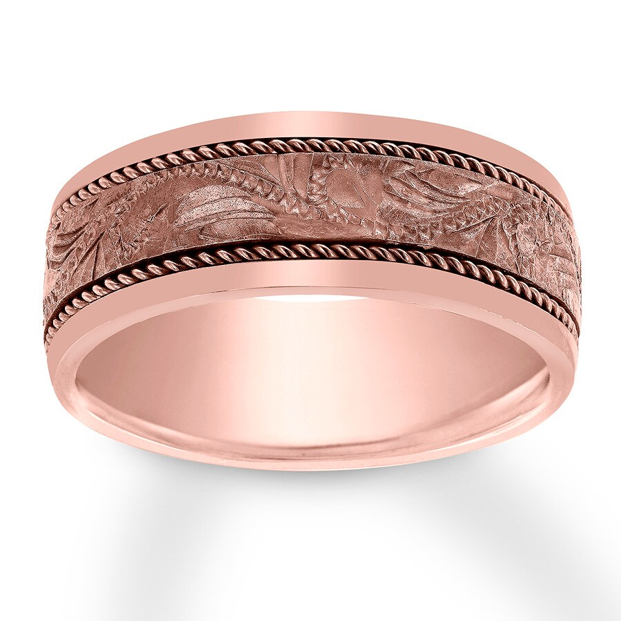 Men\'s Wedding Band 14K Rose Gold 8mm - 12047640799 - Jared
