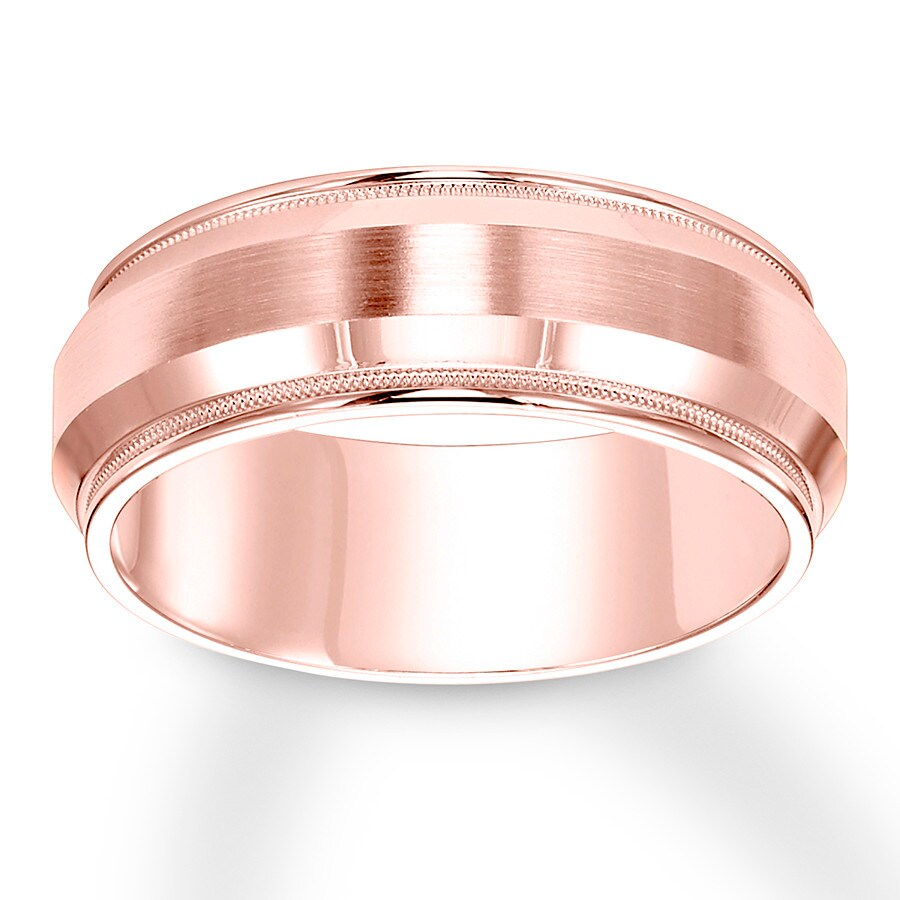 Jared - Men\'s Wedding Band 14K Rose Gold 8mm