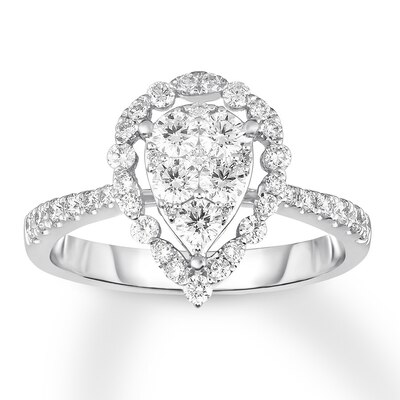 Diamond Ring 7/8 ct tw Round-cut 14K White Gold