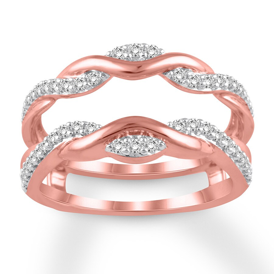 Diamond Enhancer Ring 1/3 ct tw Round-cut 14K Rose Gold - 120509207 ...