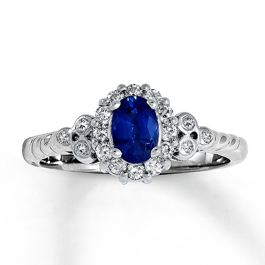 Jared Le Vian Blueberry Sapphire Ring 14 ct tw Diamonds 14K Gold