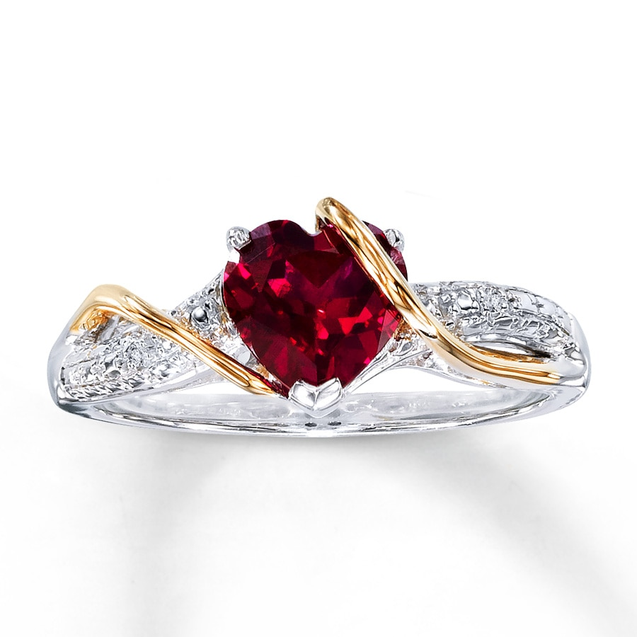 Angara Diamond Ring with Ruby Accents in White Gold