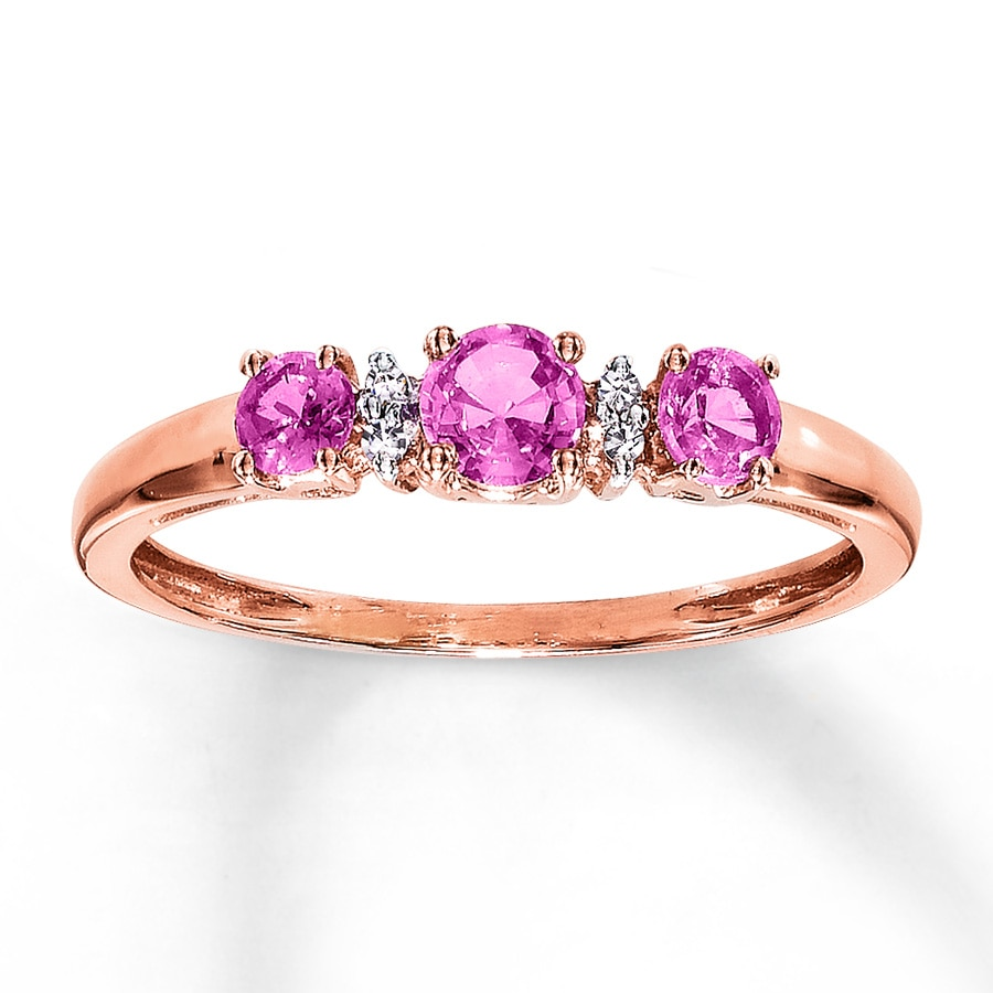 pink diamond verifine gold eternity ring london sapphire rose product in rings