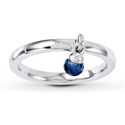 Jared Stackable Ring   Lab-Created Sapphire Sterling Silver- Fashion