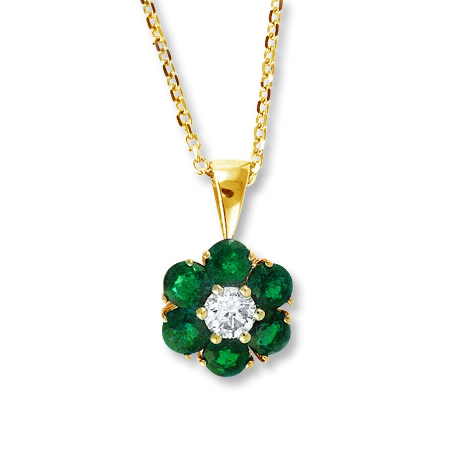 emerald pendant in carats set white dia with diamonds gold natural