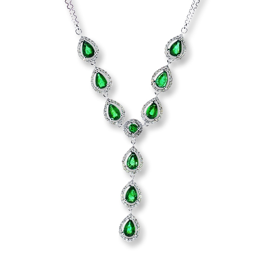 necklaces andrea diamond necklace drop multiple and rose emerald gold