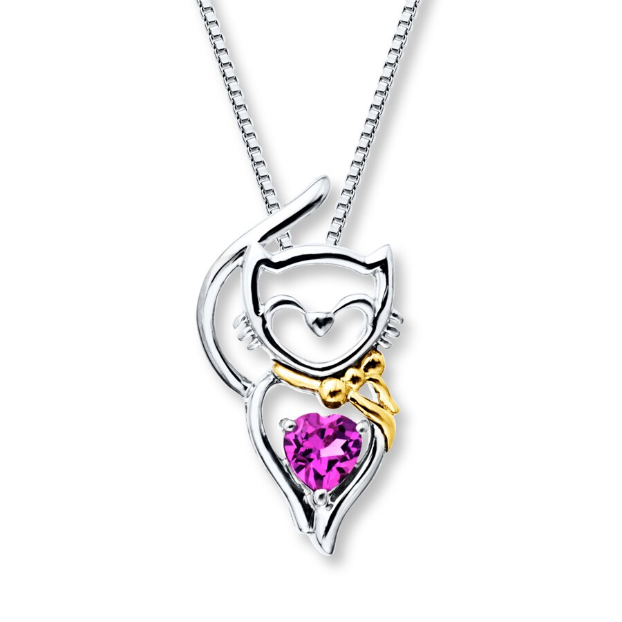 jewellery image wolf uk badger silver origami cat necklace