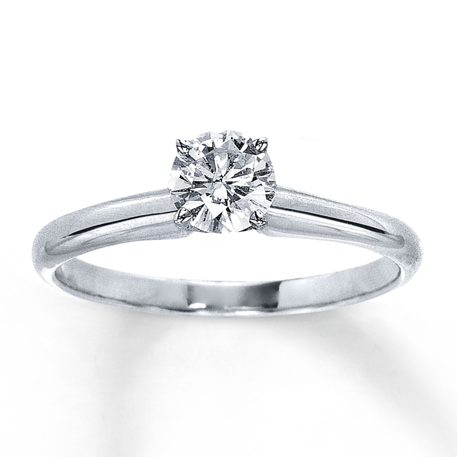 diamond engagement ring in rings with gold white carat a solitaire