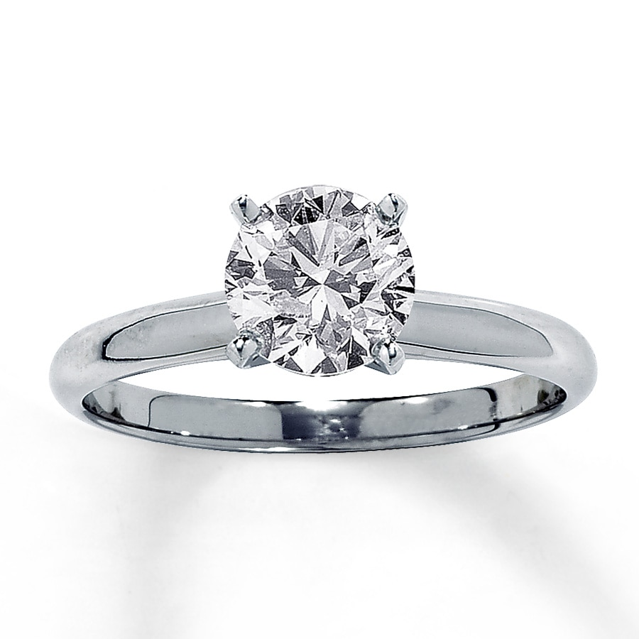 band with rings pin simple carat engagement pave ring diamond solitaire brilliant round