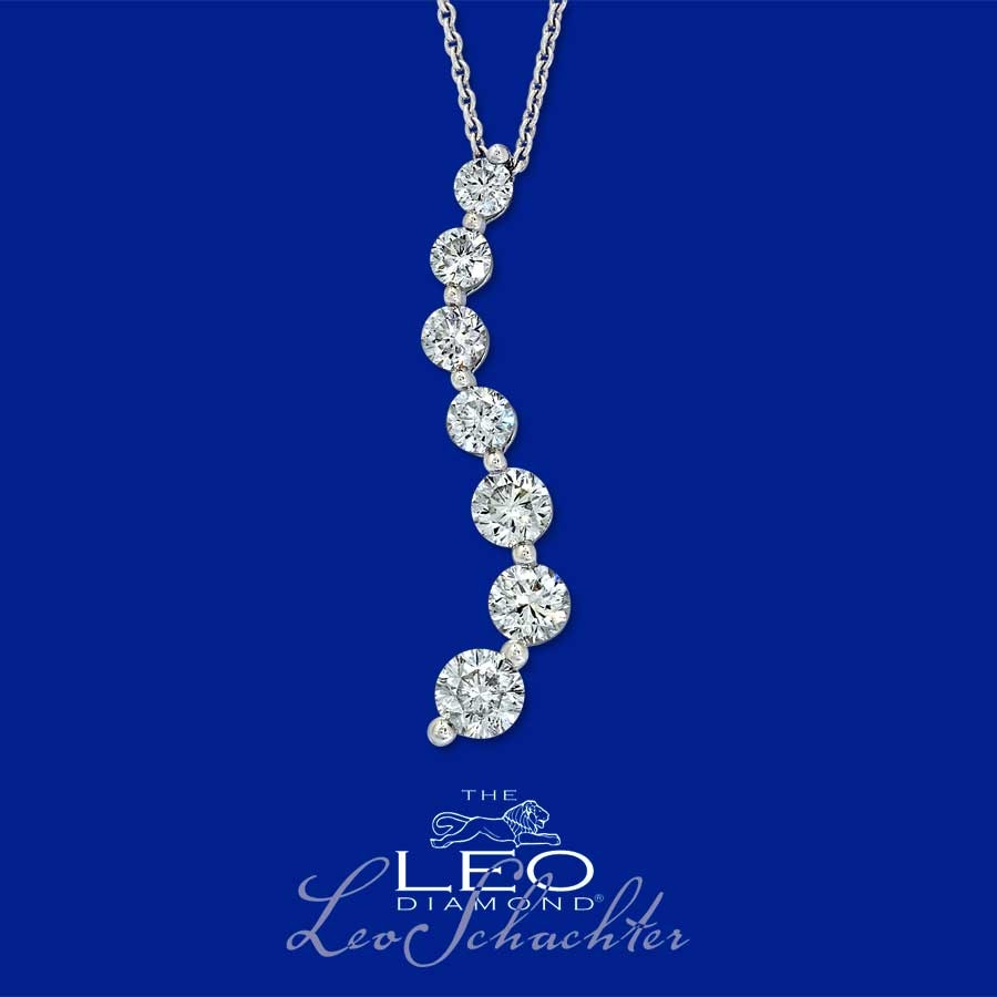 Jared 18K Gold 1 12 Carat tw Leo Diamond Journey Necklace