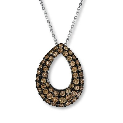 LeVian Chocolate Diamonds 1 ct tw Necklace 14K Vanilla Gold Le Vian