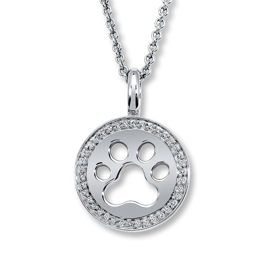 lockets lovetoknow locket paw heart print diamond tendervoices